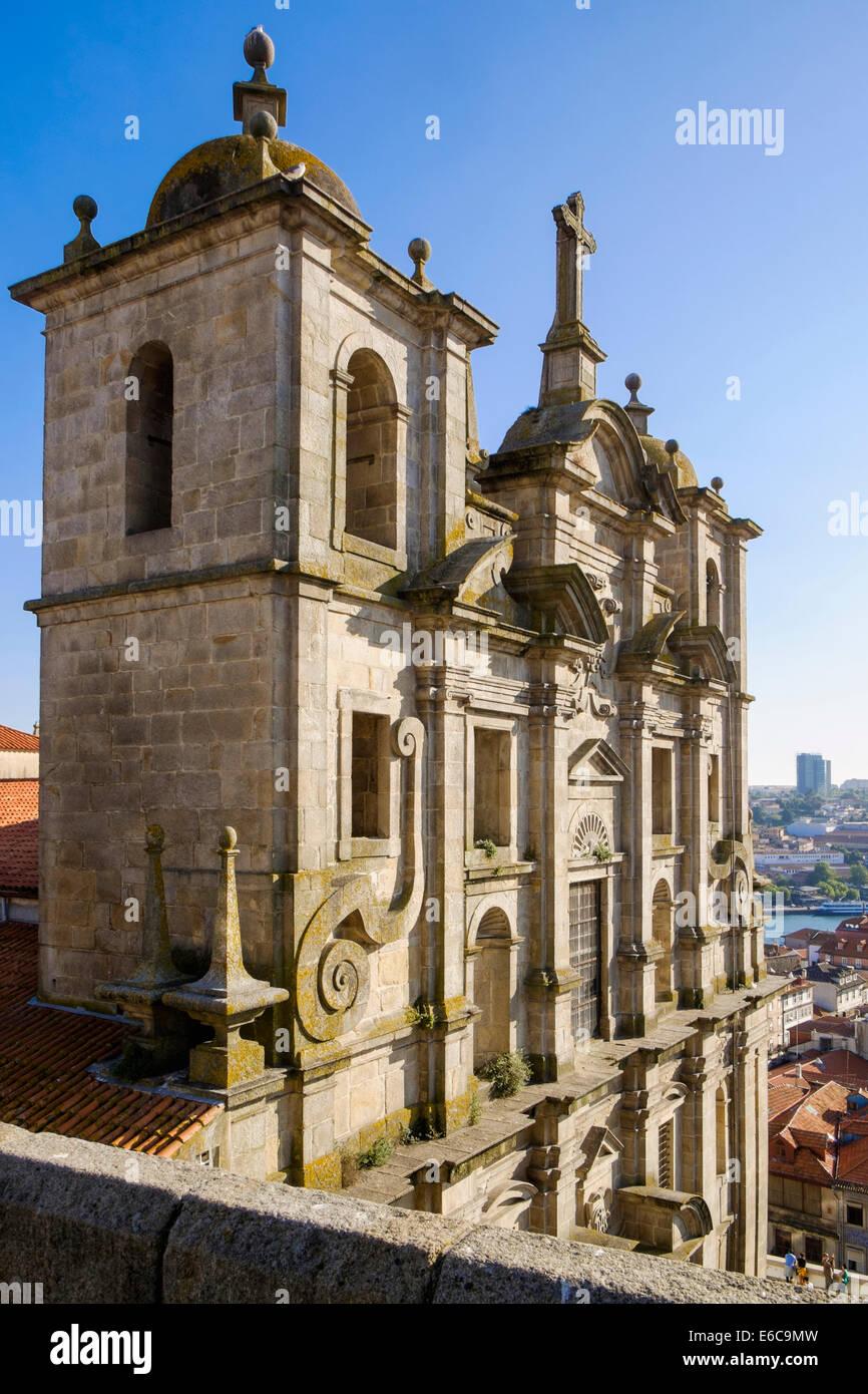 Igreja De S. Lourenço church in the historic Ribeira district of  Oporto Portgual - Stock Image