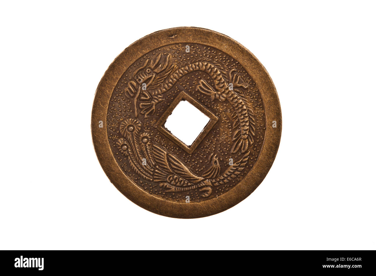 Chinese antique coin - Stock Image