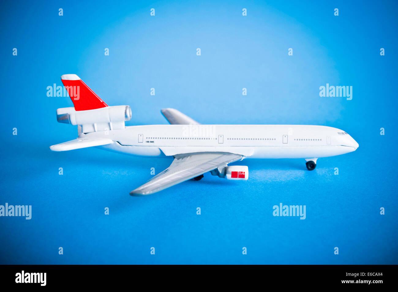 model airplane for passenger transport - Stock Image
