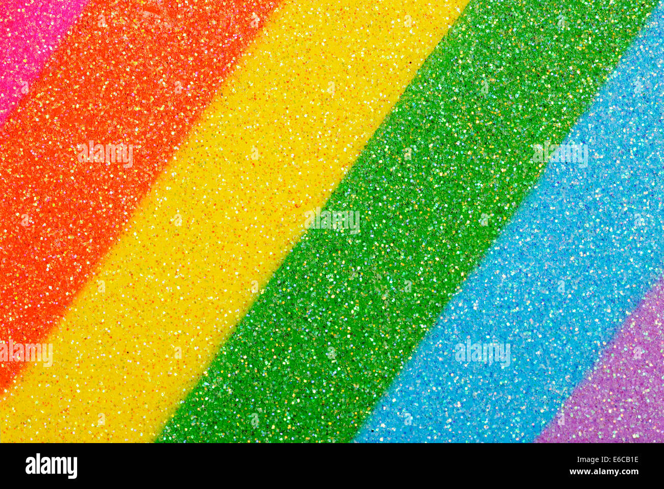 Rainbow colors, close-up - Stock Image