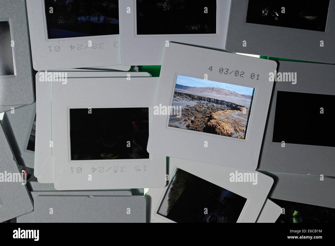 35mm photographic slides - slide film - Stock Image