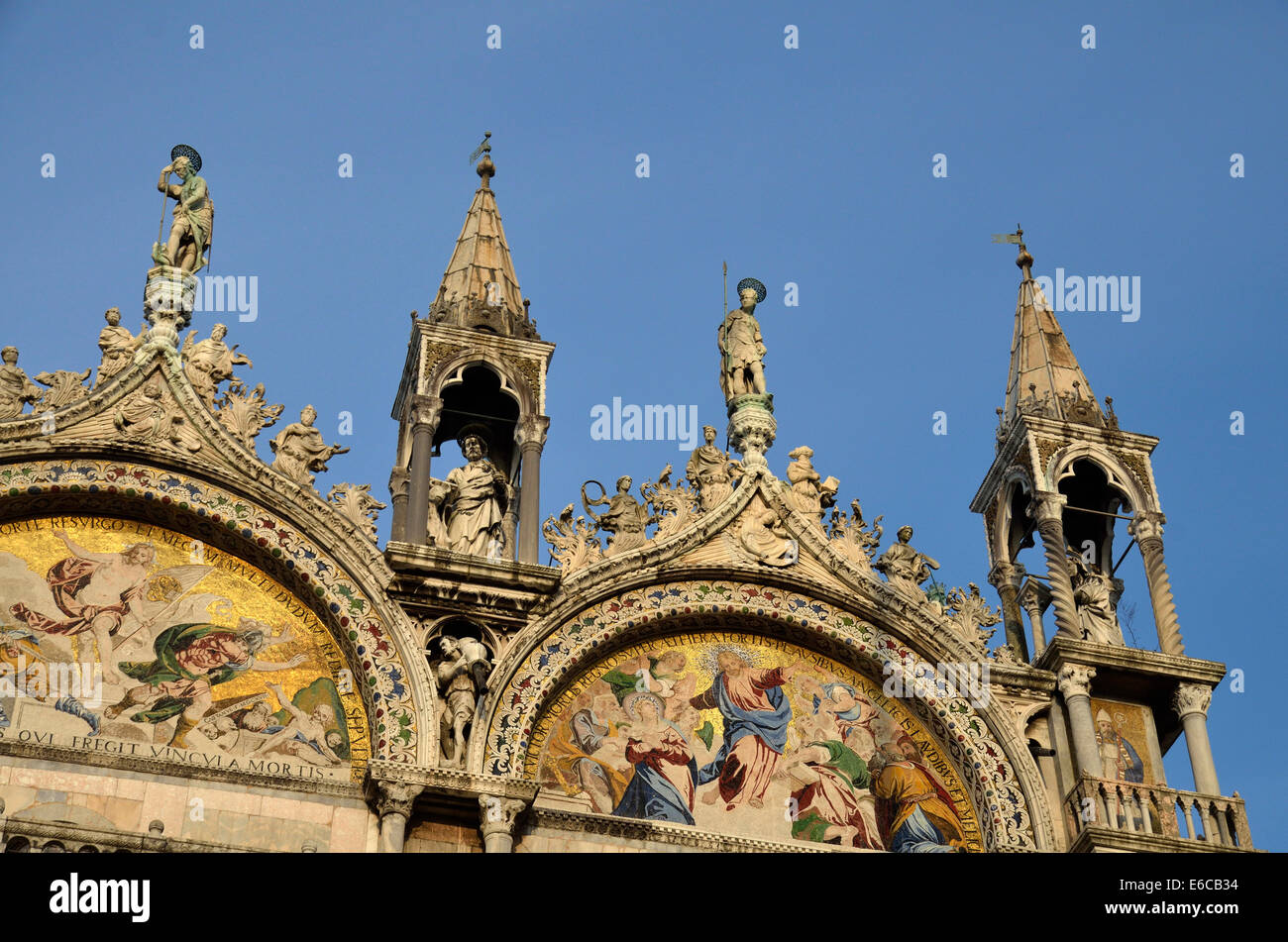 San Marco basilica, Venice, Italy, Europe - detail of the architecture - Stock Image