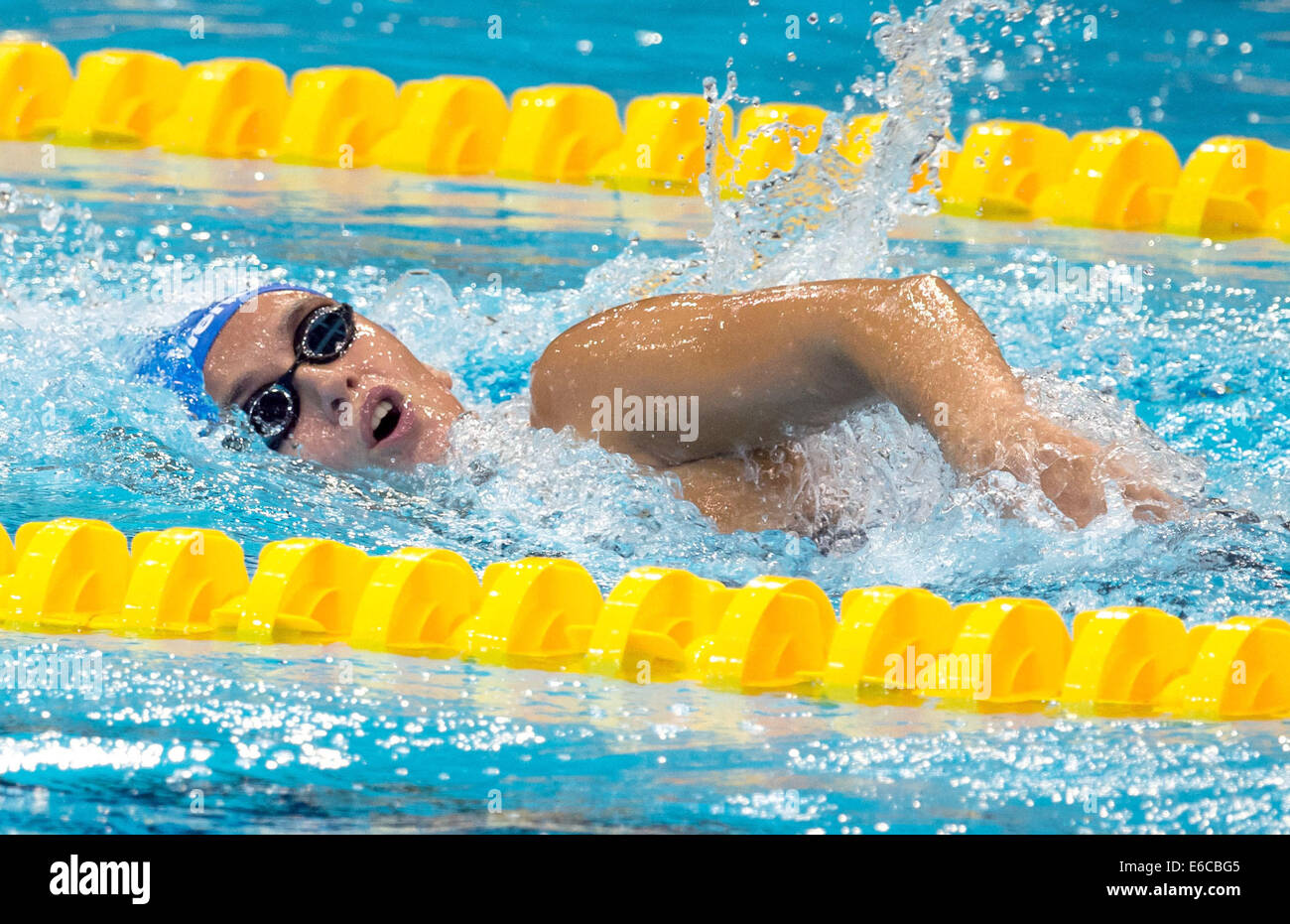 Berlin, Germany. 20th Aug, 2014. Anna-Marie Benesova from the Czech Republik competes in the womens 800m freestyle - Stock Image