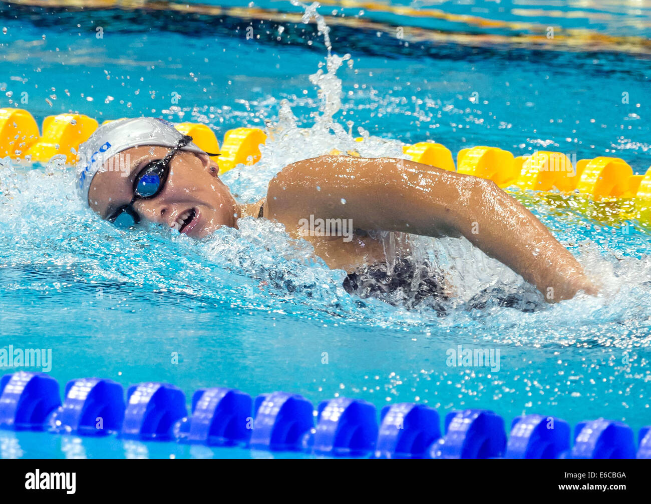 Berlin, Germany. 20th Aug, 2014. Alena Benesova from the Czech Republik competes in the womens 800m freestyle preliminary - Stock Image