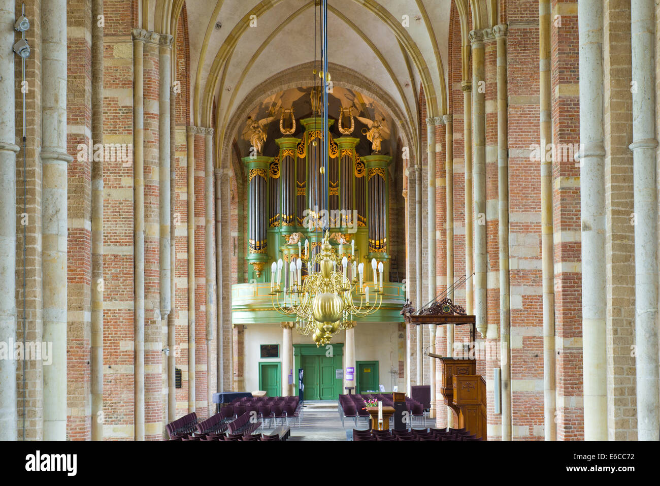 interior of the Lebuinus church in deventer, netherlands Stock Photo