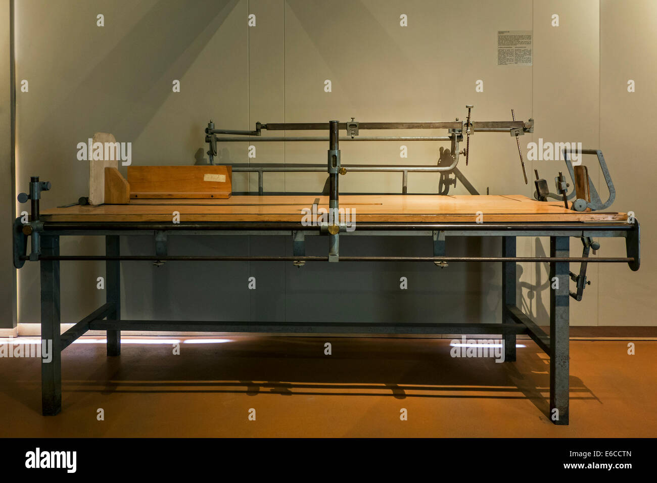 Anthropometrical table designed by French anthropometrist Maurice Verdun, Dr Guislain Museum about psychiatry, Ghent, - Stock Image