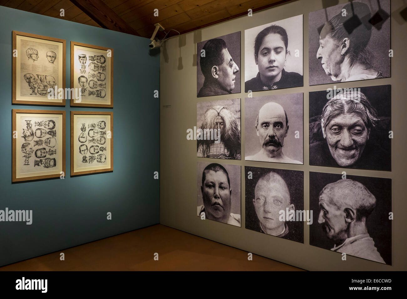 Psychiatric patients in the Dr Guislain Museum about the history of psychiatry in the former Guislain Hospice, Ghent, - Stock Image
