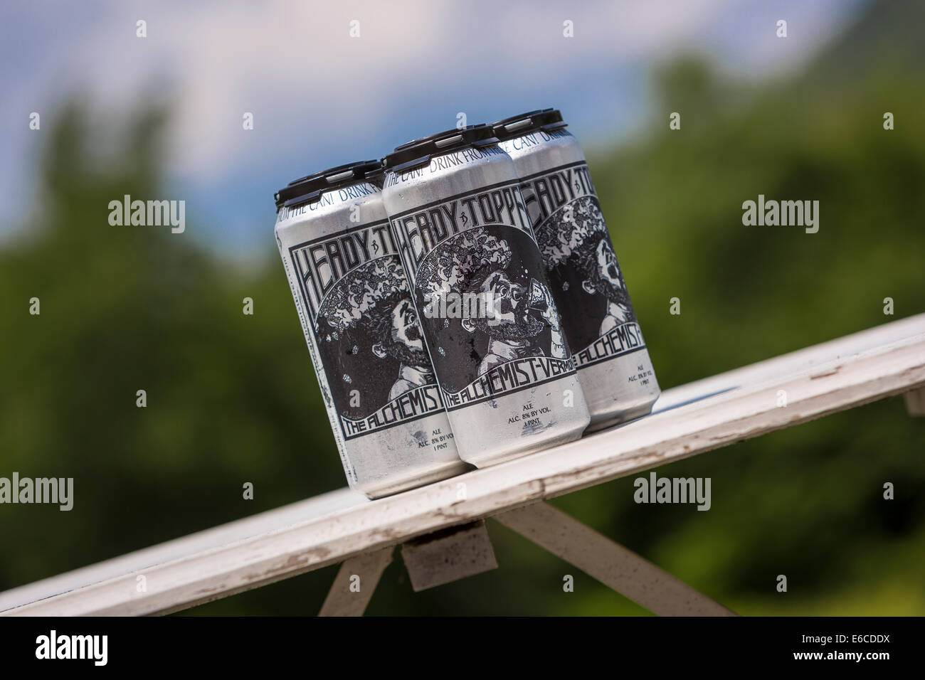 VERMONT, USA - Heady Topper ale, a beer produced by The Alchemist Brewery. - Stock Image