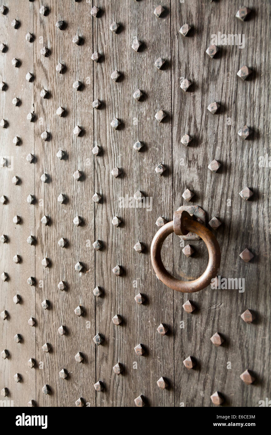 Main door leading inside / interior of Lyme Cage, Lyme Park, Cheshire. UK. - Stock Image