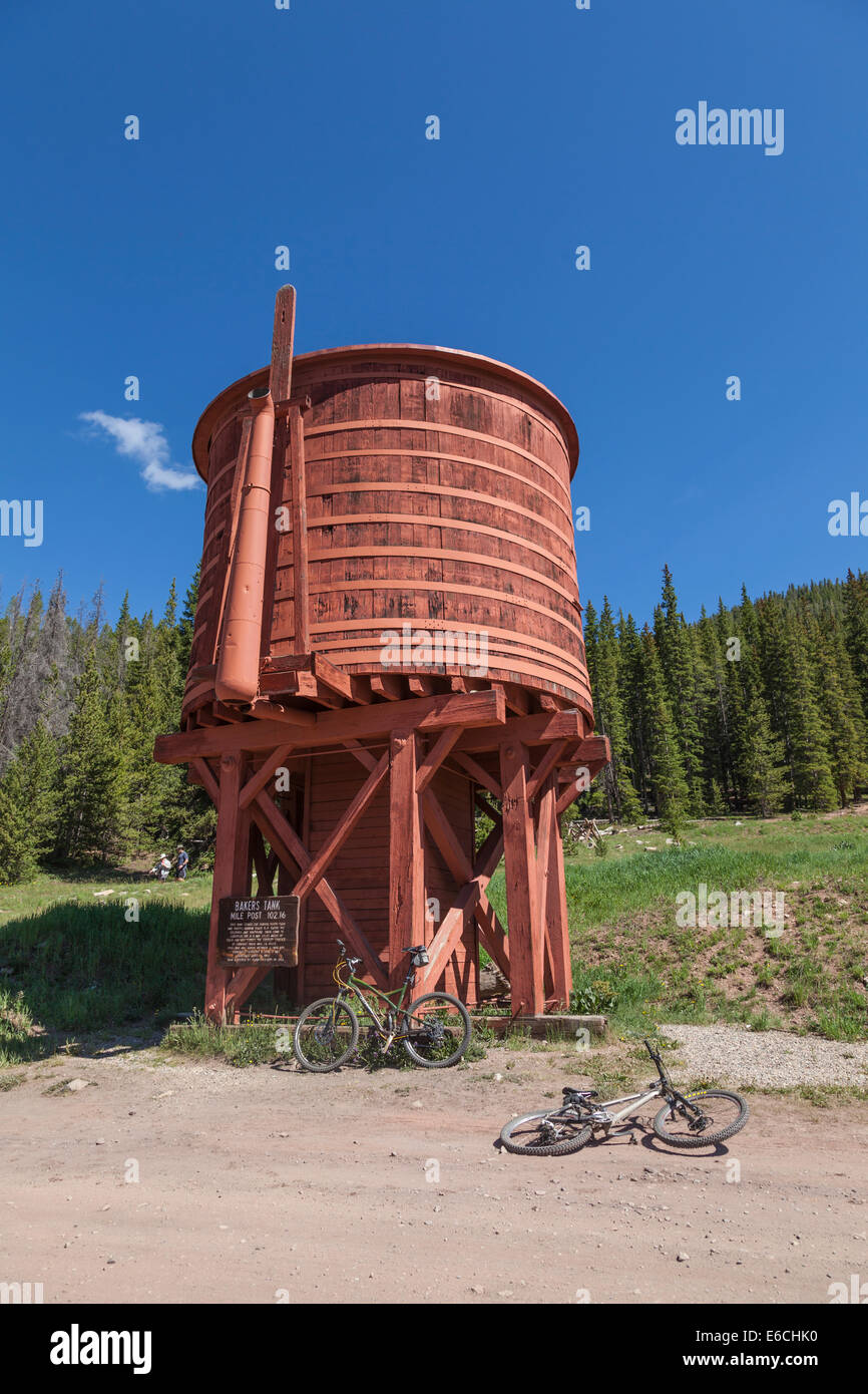 Abandoned Bakers Tank Water Tower at Mile Post 102.16 of the Denver South Park and & Abandoned Tank Stock Photos u0026 Abandoned Tank Stock Images - Alamy