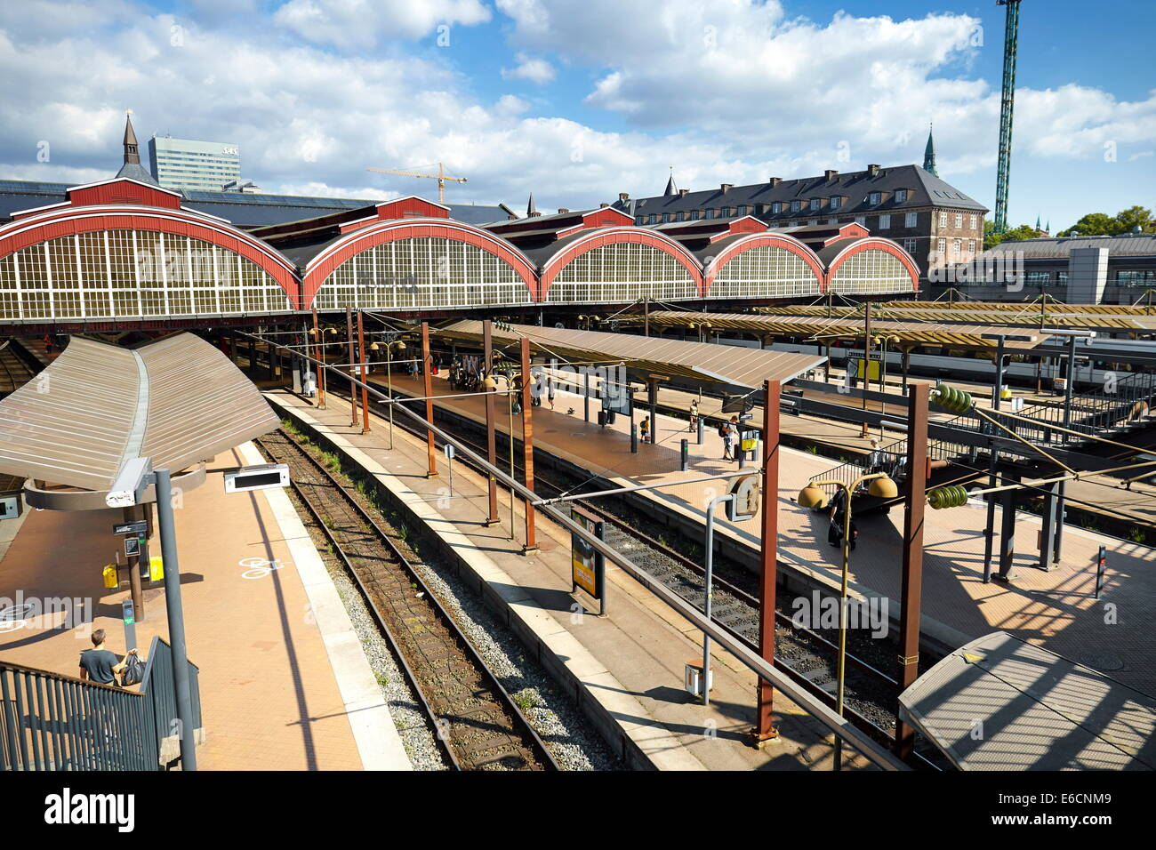 Central Train Station, Copenhagen, Denmark - Stock Image