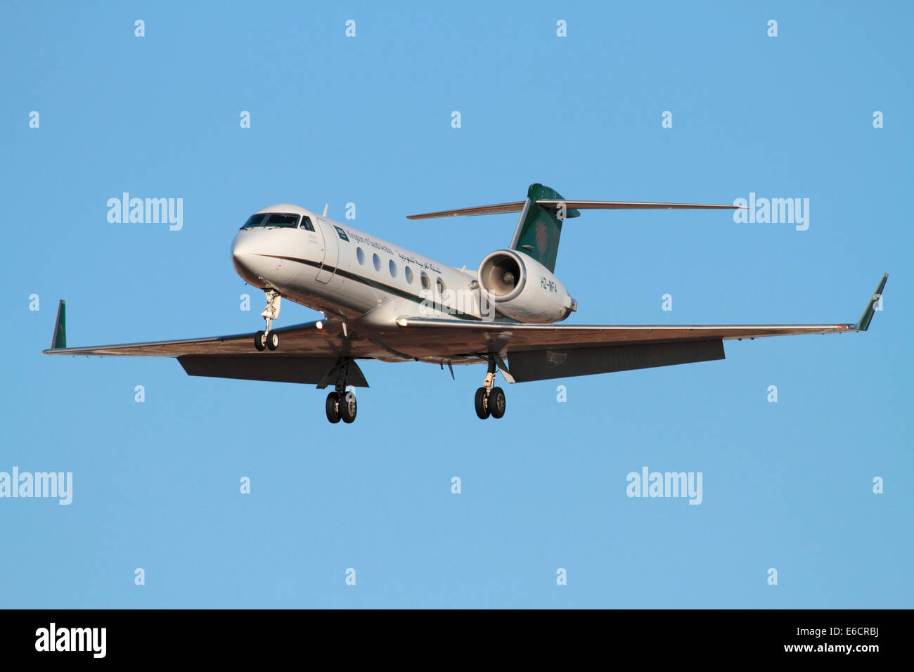 Gulfstream IV business jet used by the Saudi Arabian government in an official VIP transport role - Stock Image