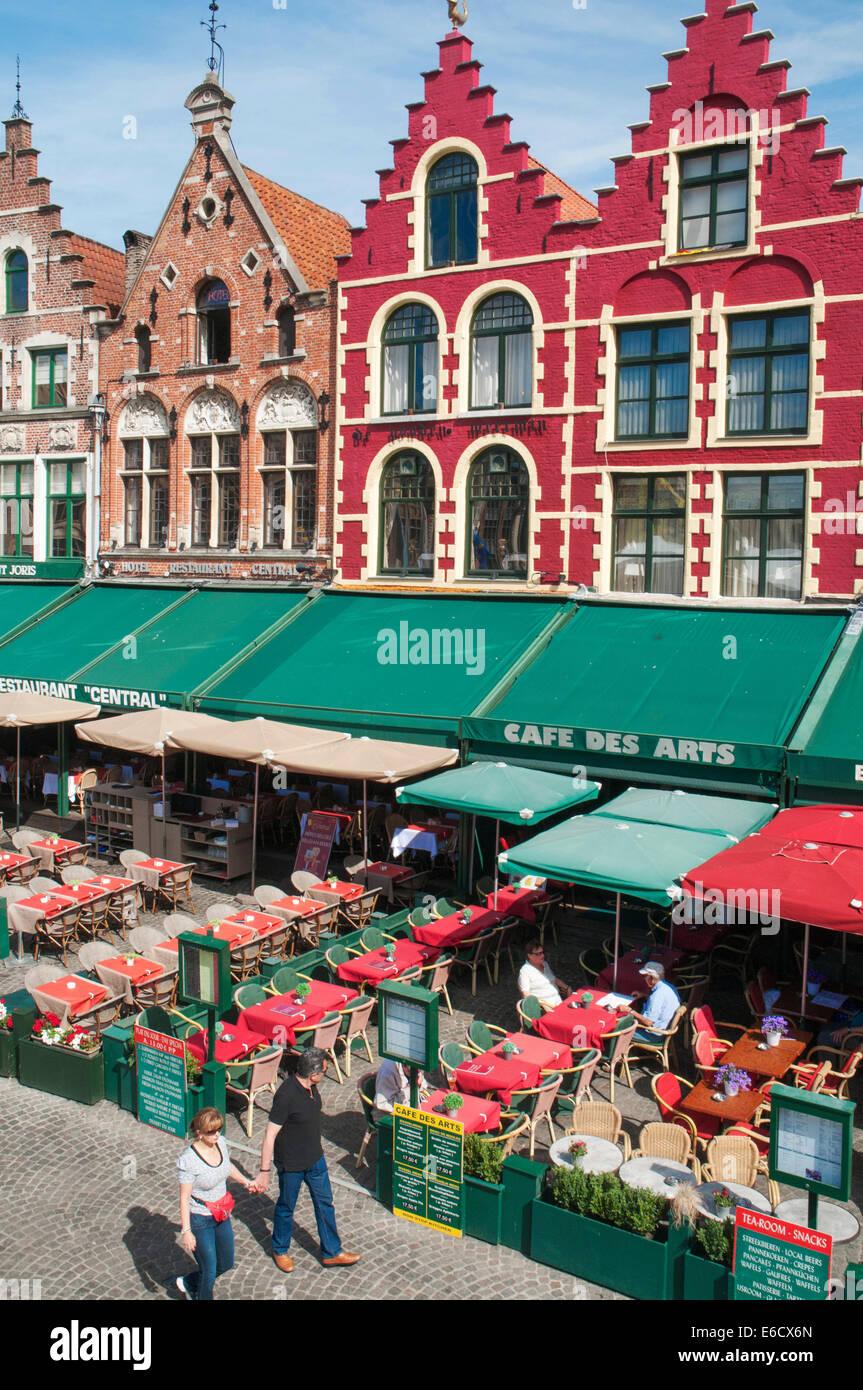 The Markt square in Bruges, Belgium - Stock Image