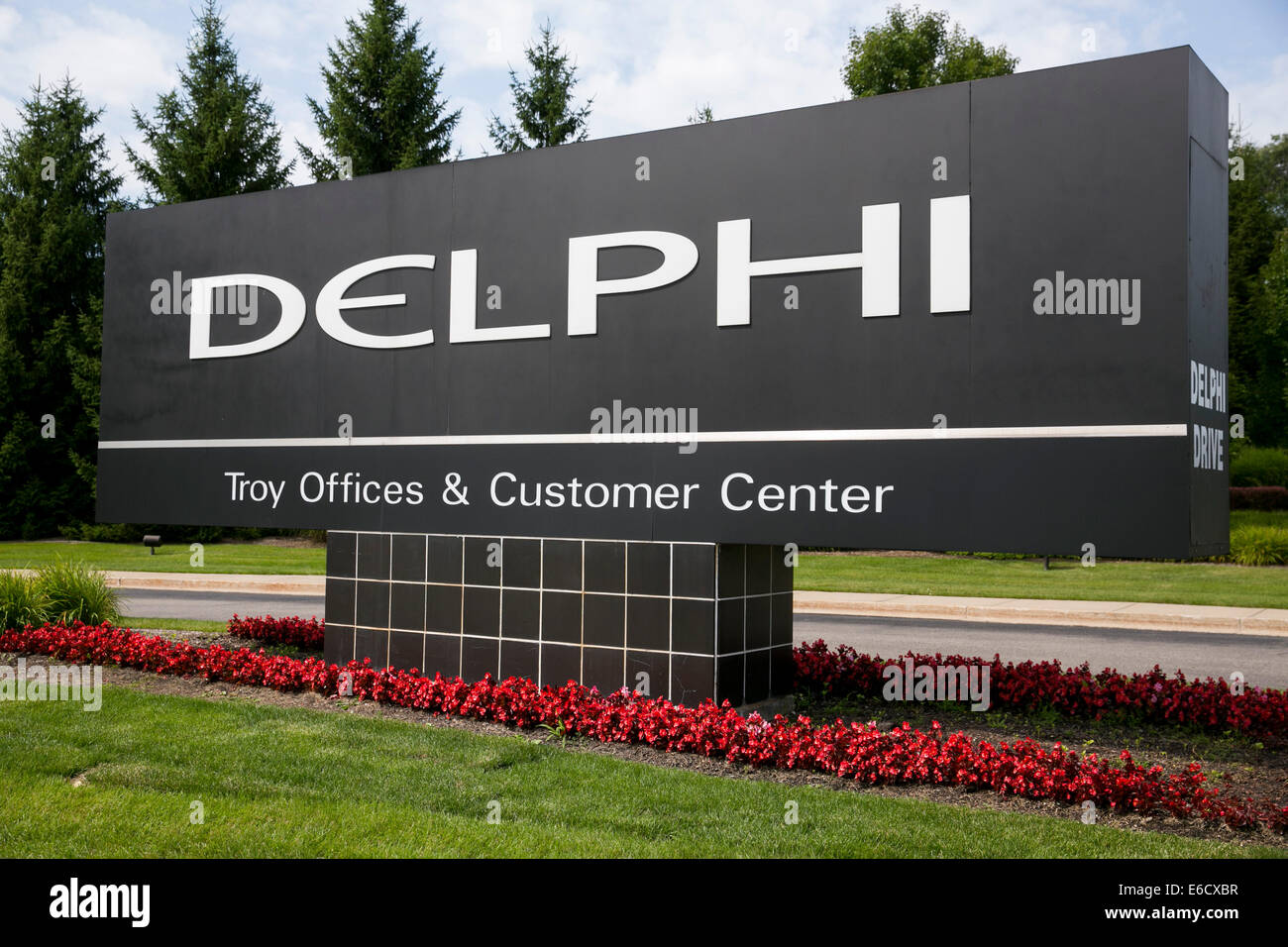 A facility occupied by auto parts maker Delphi Automotive in Troy, Michigan. - Stock Image