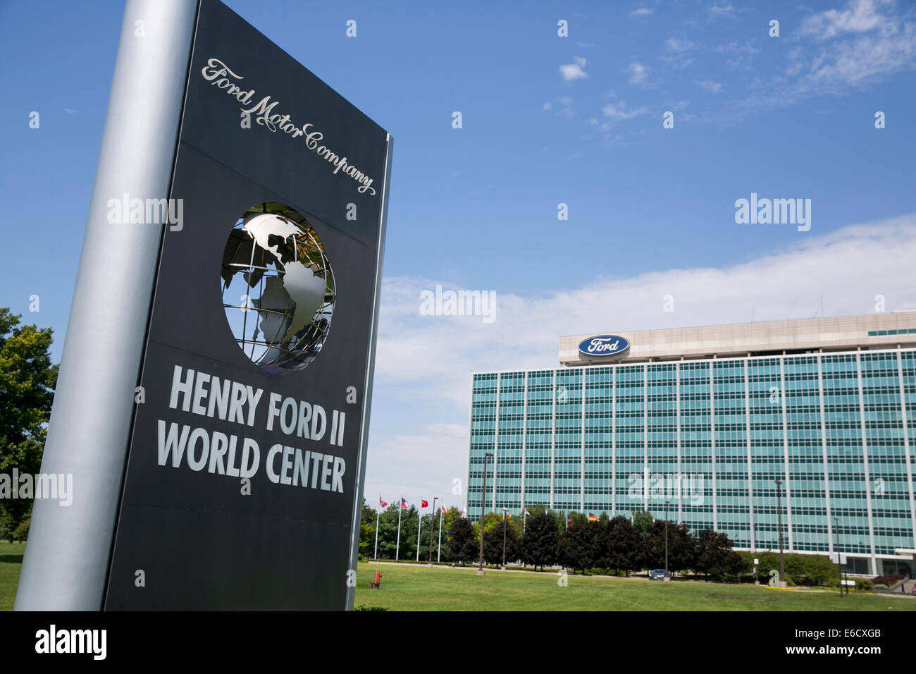 The headquarters of the ford motor company in dearborn michigan