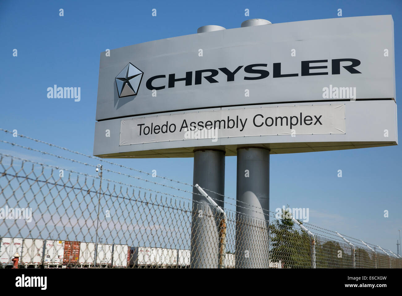 The Chrysler Toledo Assembly Complex in Toledo, Ohio. The manufacturing site of Jeep vehicles. - Stock Image
