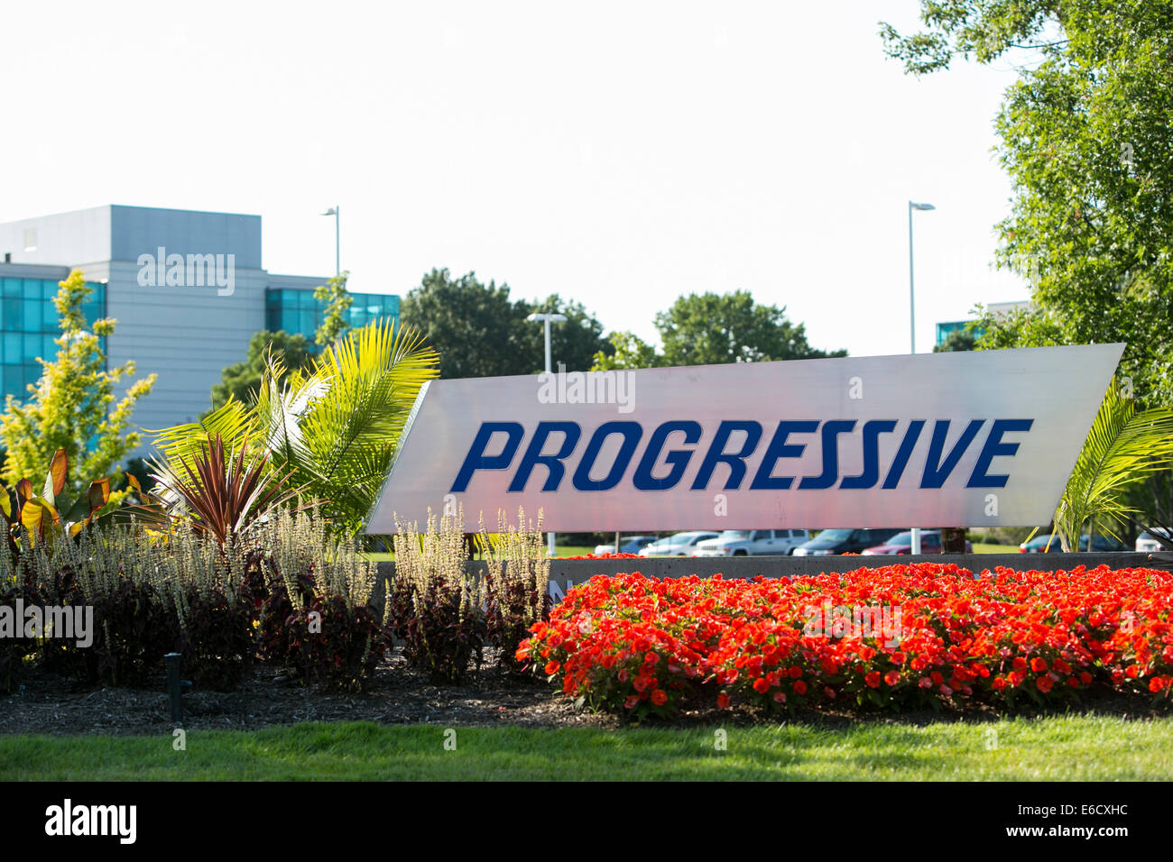 A facility occupied by the Progressive Corporation in Mayfield, Ohio. - Stock Image