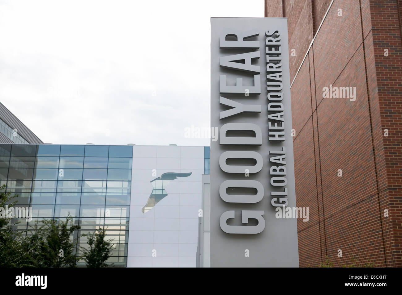 The headquarters of The Goodyear Tire & Rubber Company in Akron, Ohio. - Stock Image