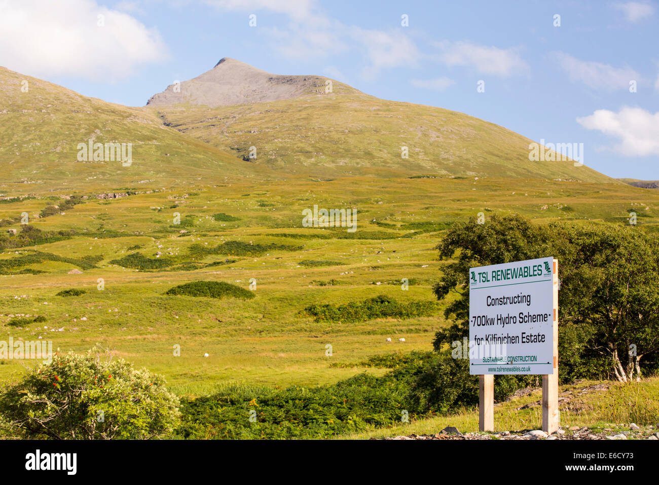 A 700 Kw hydro pwer scheme being constructed on the slopes of Ben More on Mull, Scotland, UK. - Stock Image