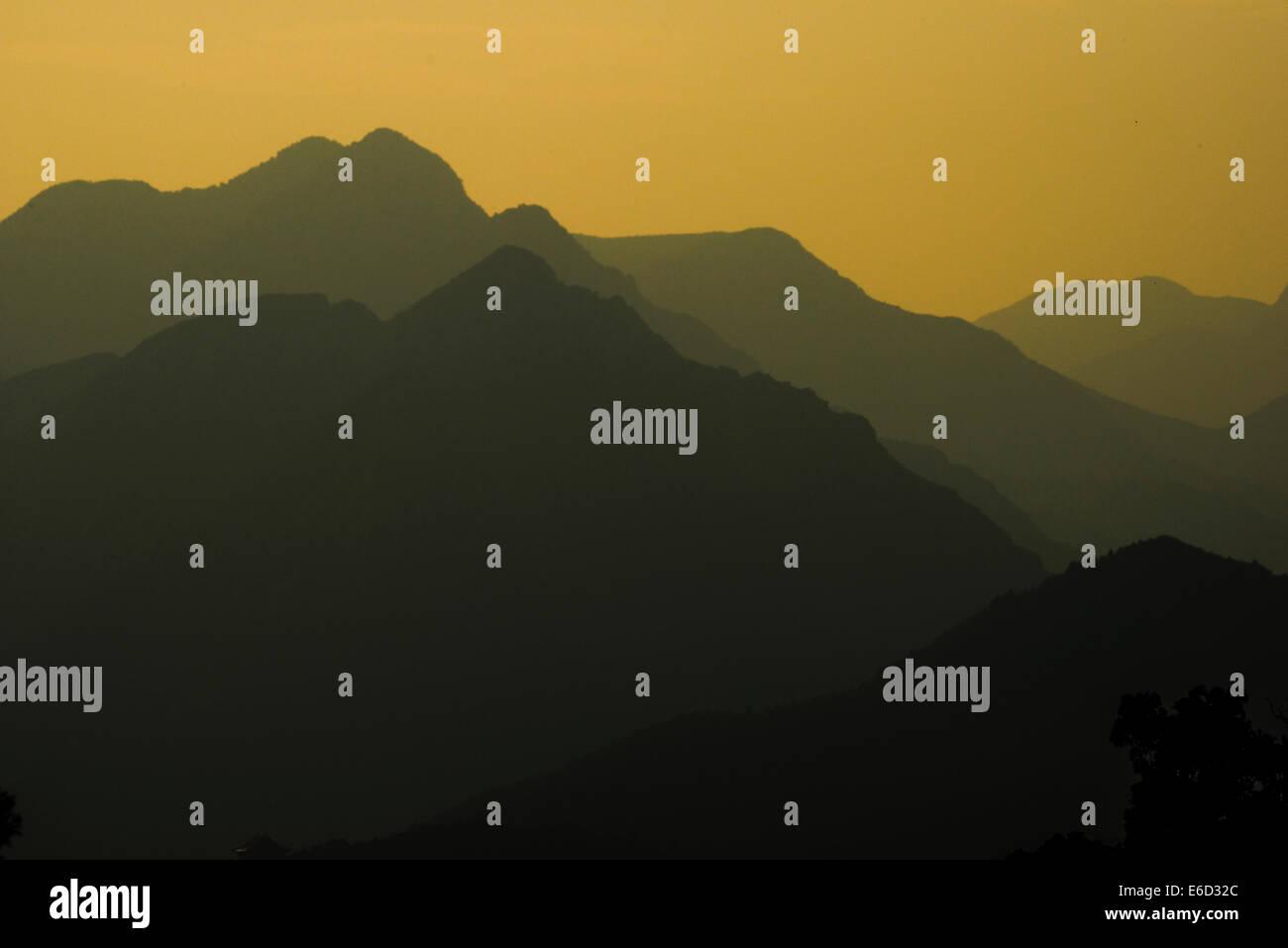 Hills near Badaling, Beijing, China - Stock Image