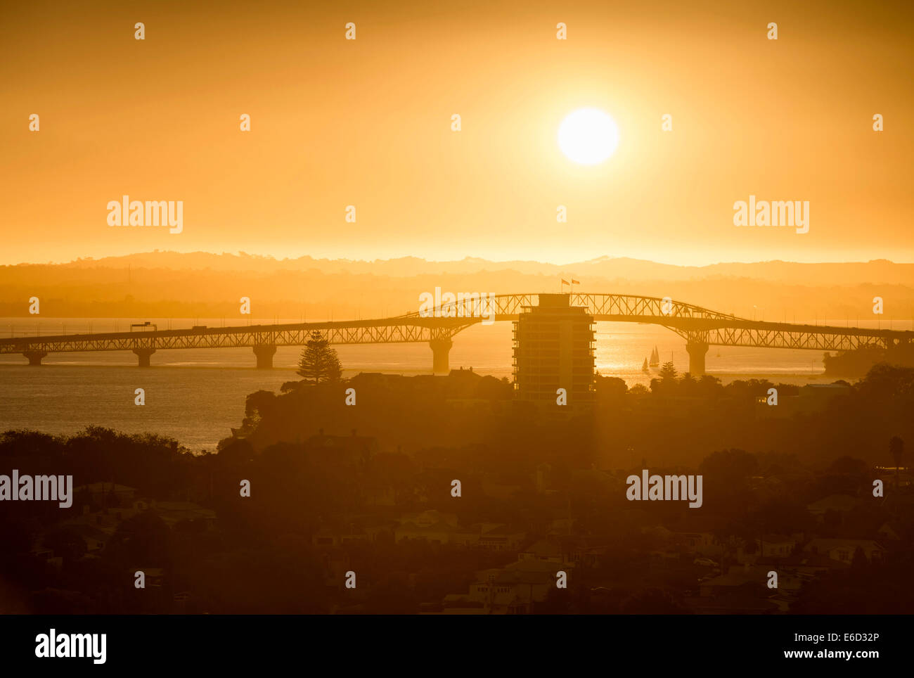 Harbour Bridge, Auckland, North Island, New Zealand - Stock Image