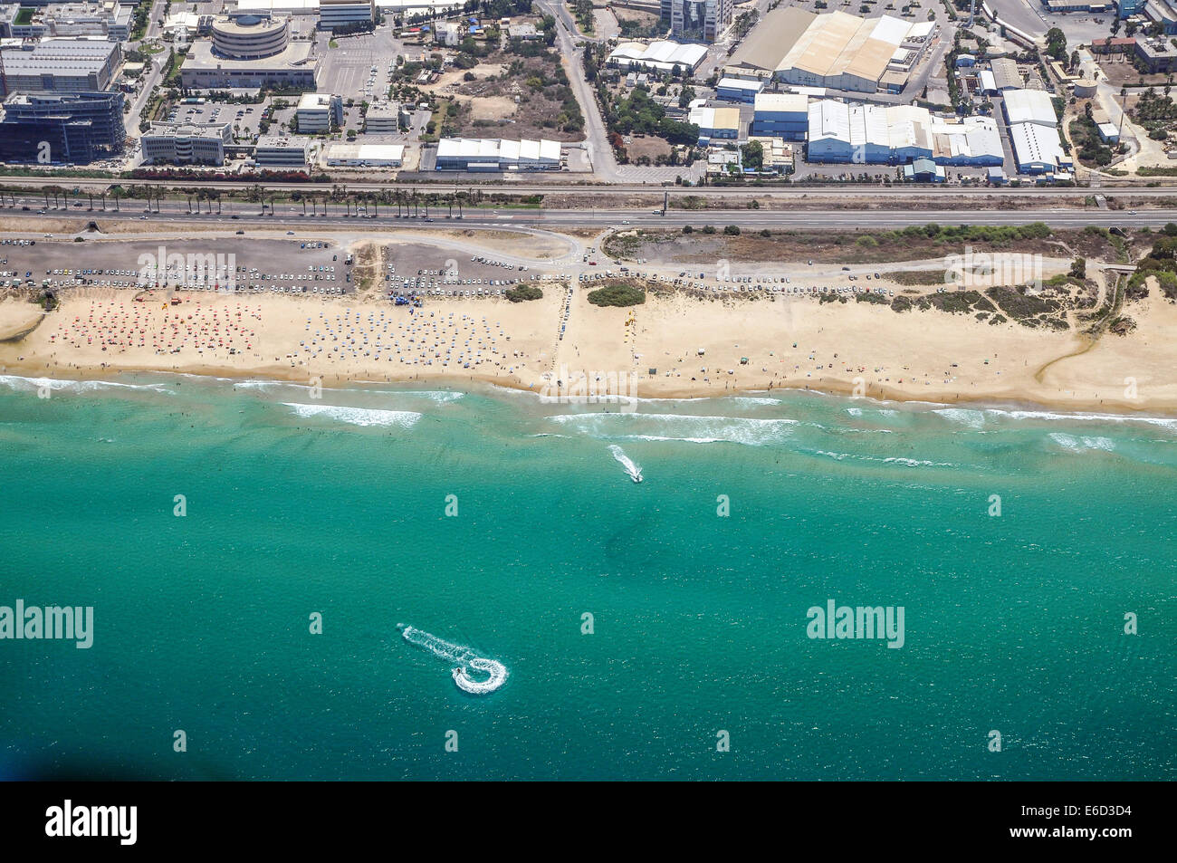 Aerial Photography of Haifa, Israel - Stock Image