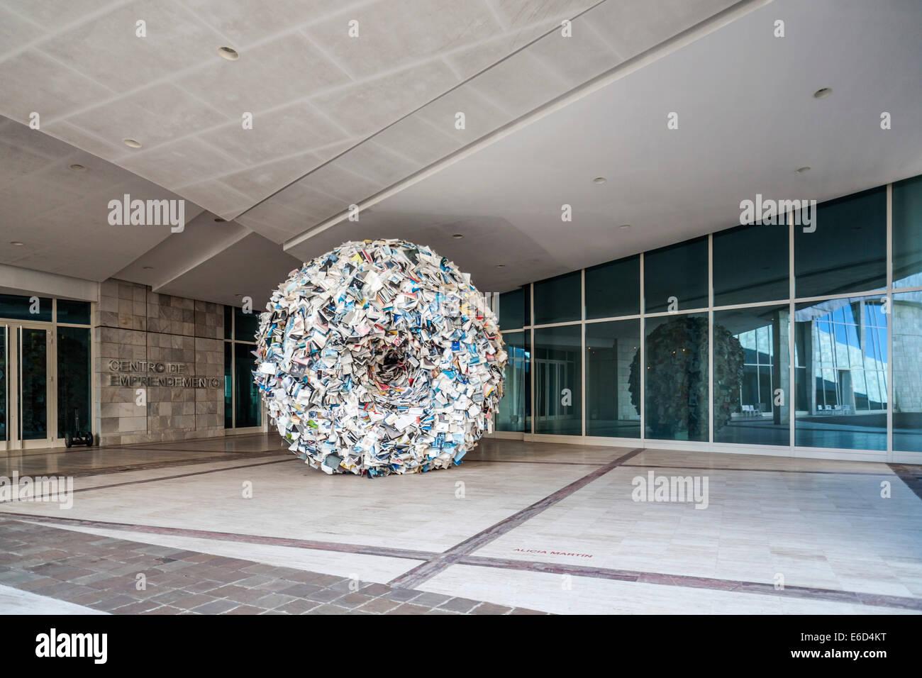 Santiago de Compostela. Cidade cultura galicia designed by Peter Eisenman - Stock Image