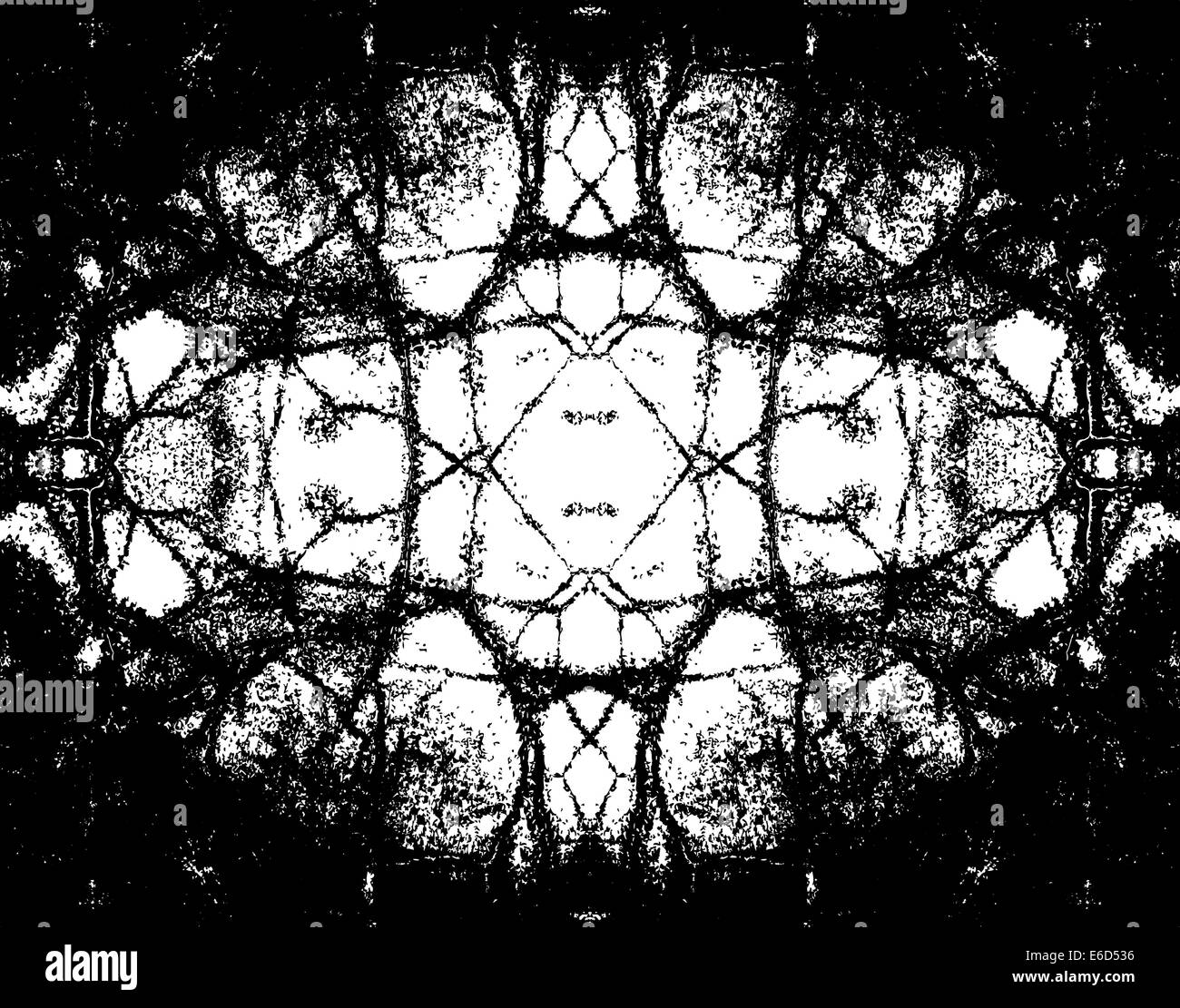 Editable vector illustration of a symmetrical grunge pattern - Stock Image