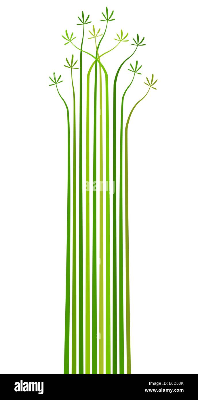 Abstract editable vector design element of stripes and leaves - Stock Vector