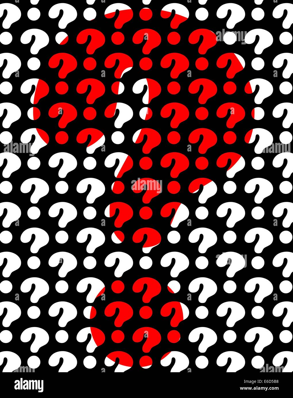 Background editable vector design of question marks - Stock Image
