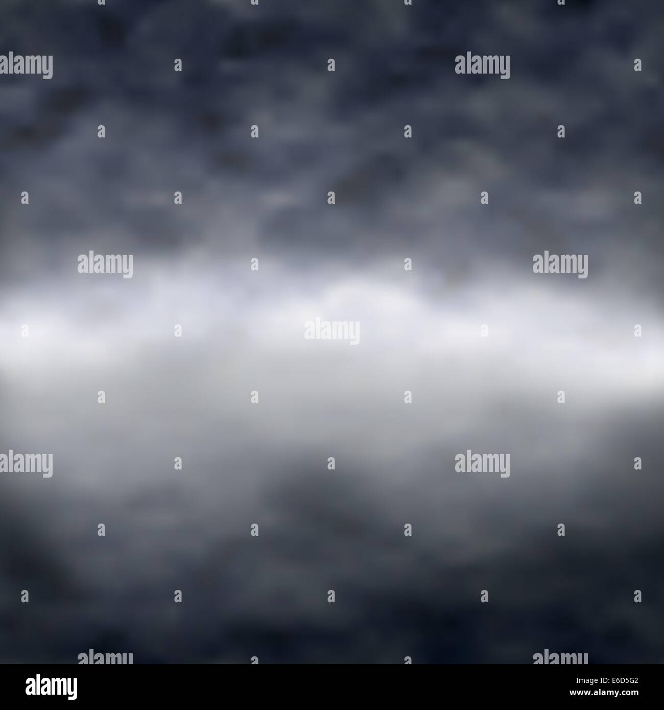 Editable vector illustration of clouds over a misty lake with reflection; made using a gradient mesh - Stock Vector