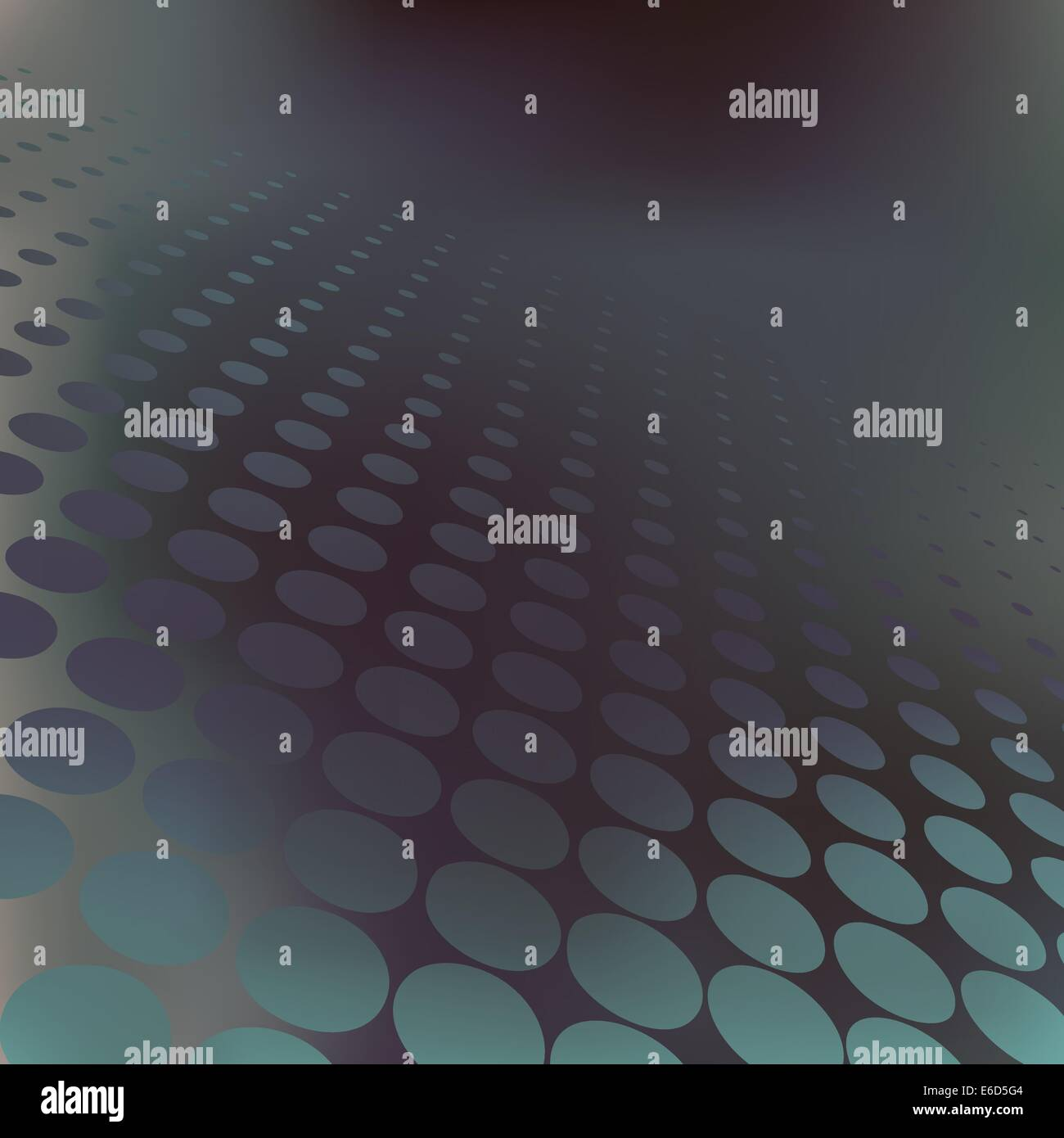 Abstract editable vector background of dark halftone dots - Stock Image