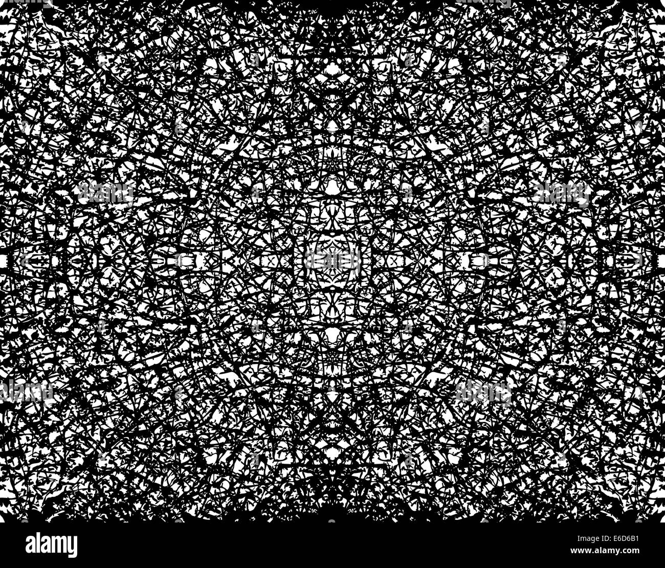 Abstract editable vector illustration of a symmetrical grunge pattern - Stock Image
