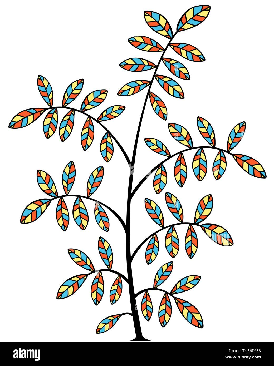 Editable vector illustration of a small tree - Stock Vector