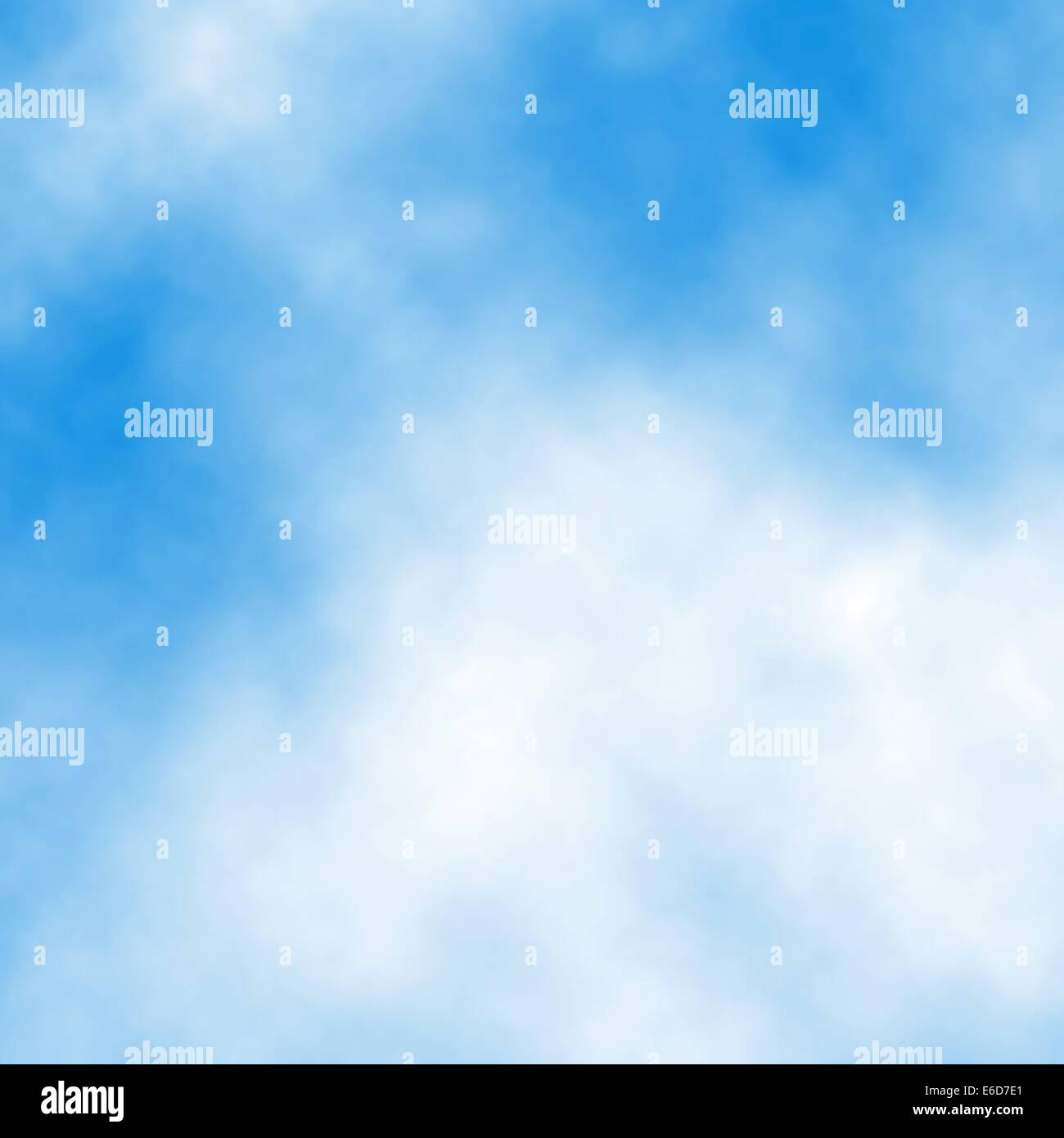Editable vector illustration of white cloud detail in a blue sky made using a gradient mesh - Stock Vector