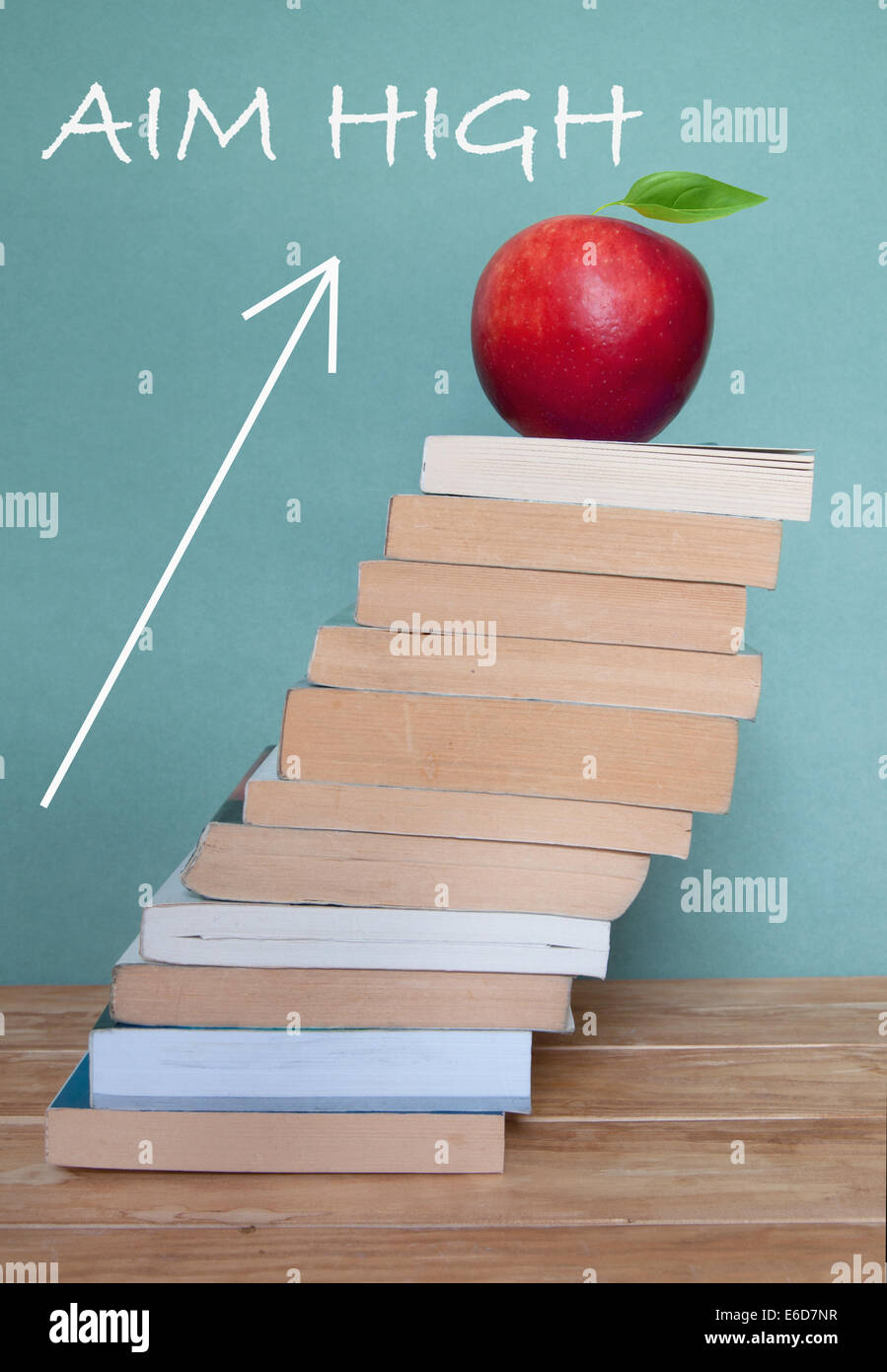 Aim high in education - Stock Image