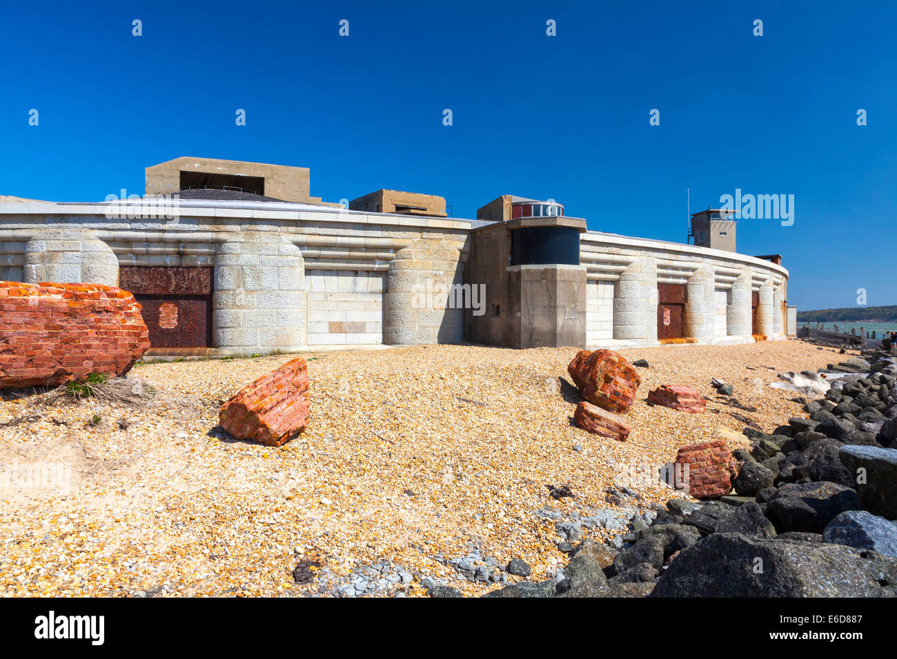Hurst Castle near Milford-on-Sea Hampshire in England - Stock Image