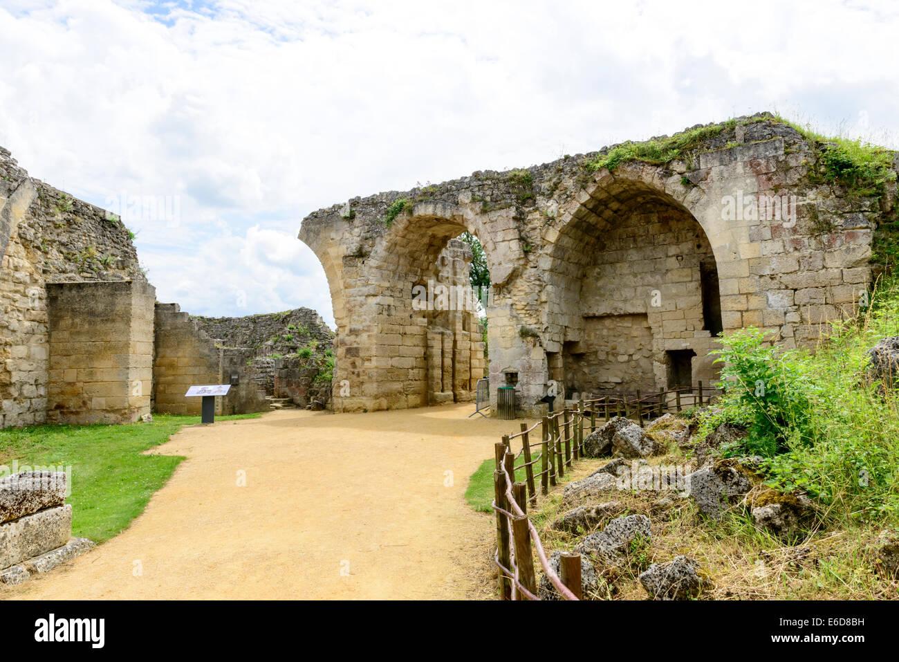 Coucy-le-Château-Auffrique Stock Photo