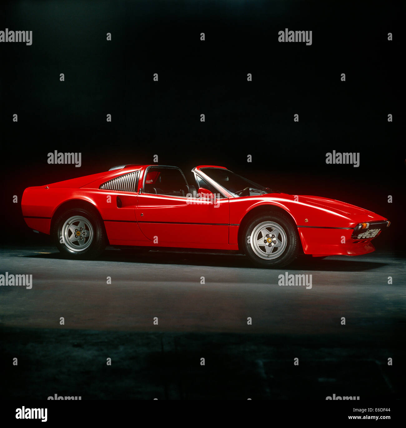 Red Ferrari 308 classic sports car - Stock Image