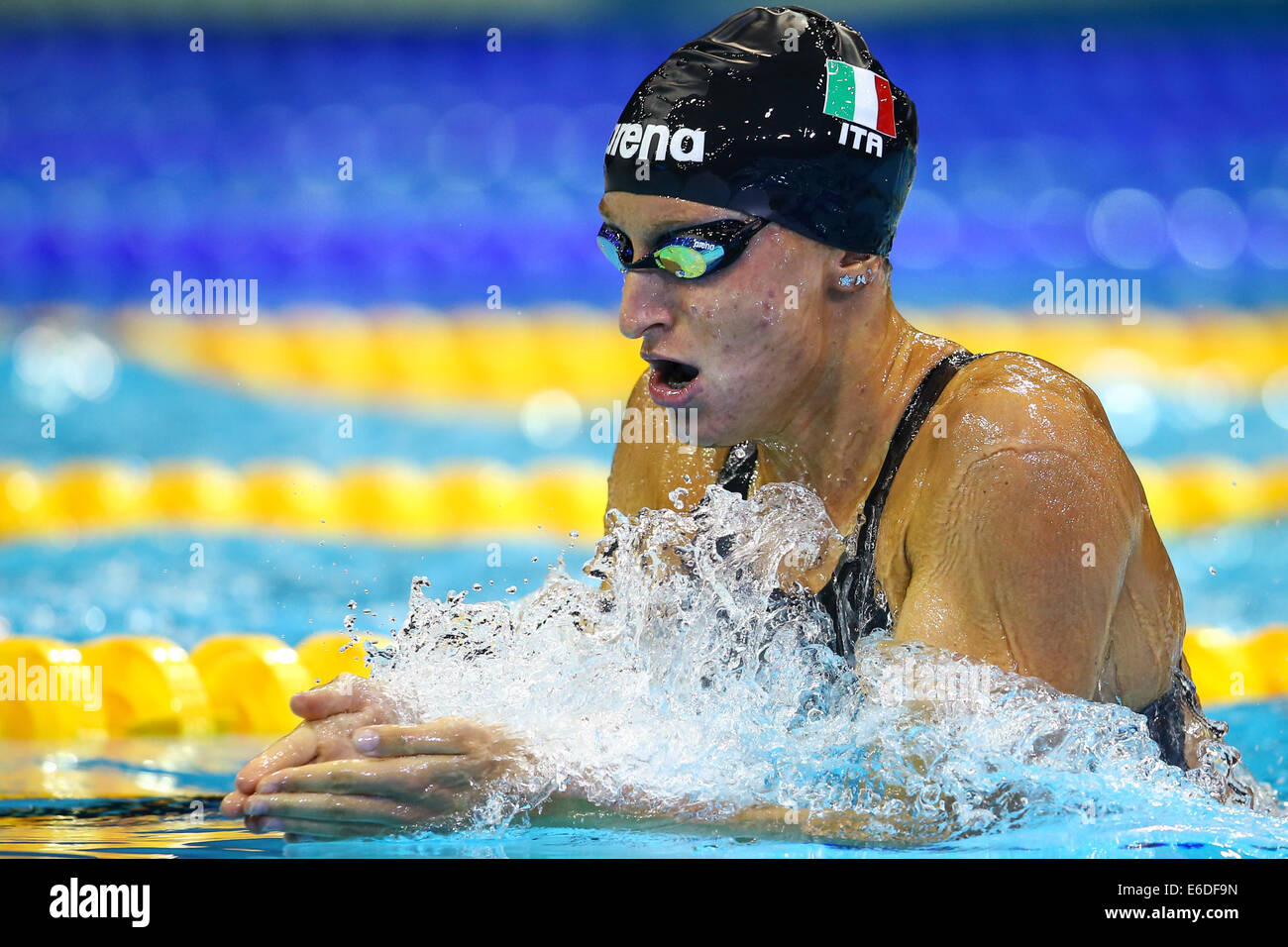 Womens_200m_breaststroke Stock Photos