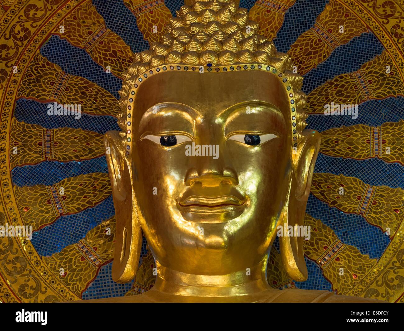 Buddha statue at Wat Phra Sing, Chiang Mai, Thailand - Stock Image