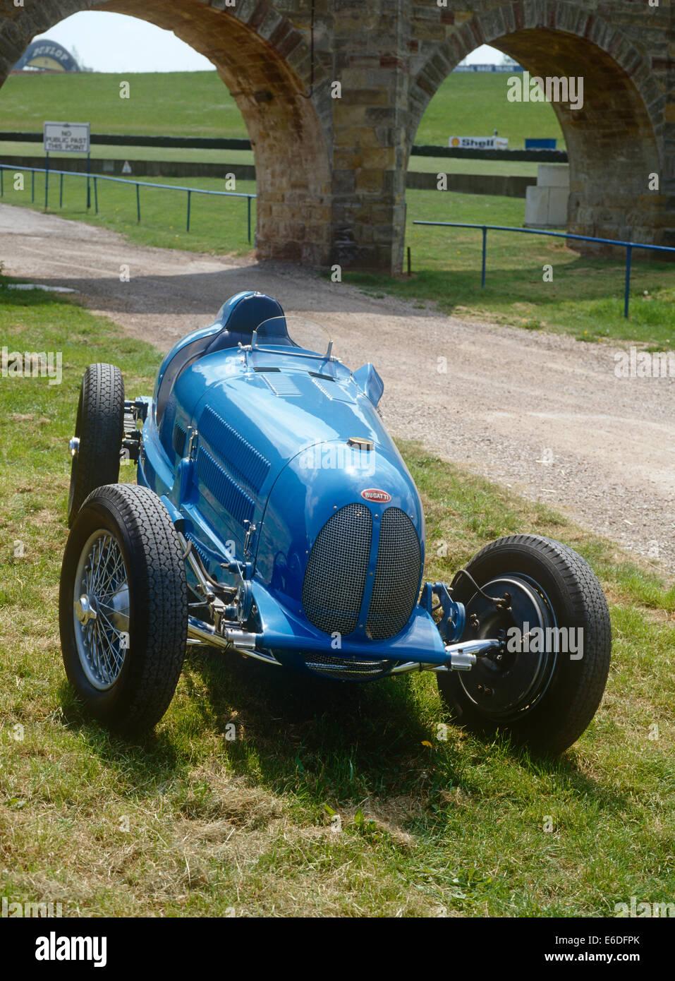 A blue 1947 Bugatti classic - Stock Image