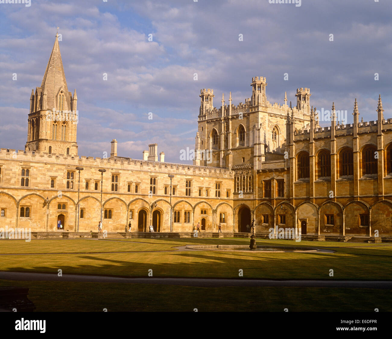 Christchurch College and cathedral Oxford UK - Stock Image