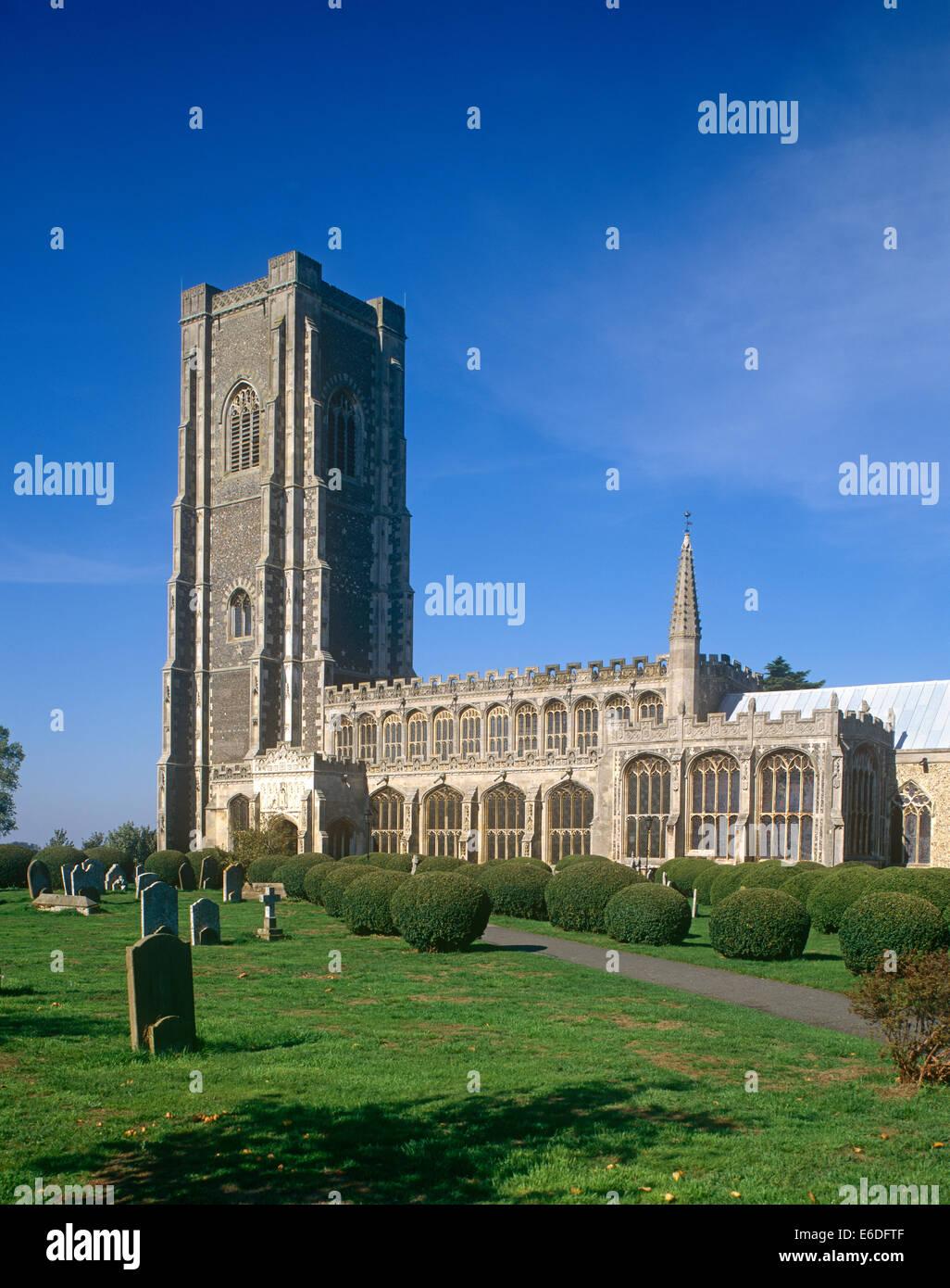 St Peter & Paul Church Lavenham Suffolk UK - Stock Image