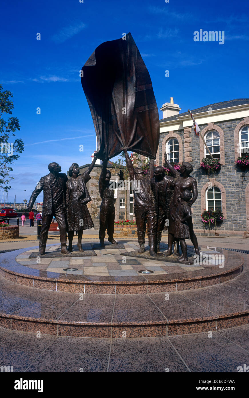 Liberation monument St Helier Jersey Channel Islands UK - Stock Image