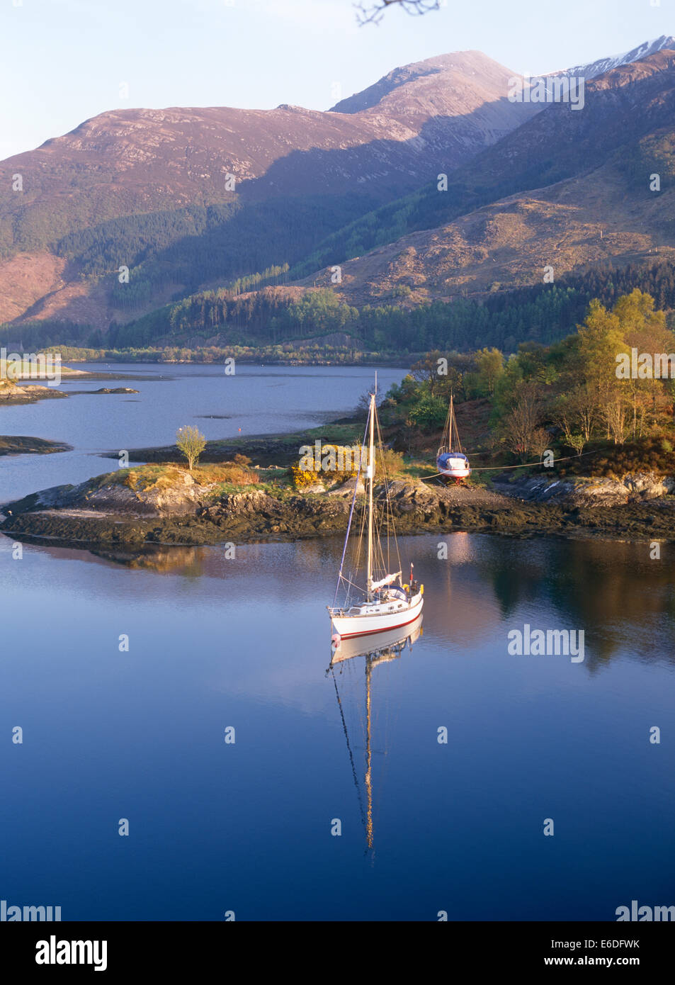 loch leven ballachulish highlands highland scotland uk - Stock Image