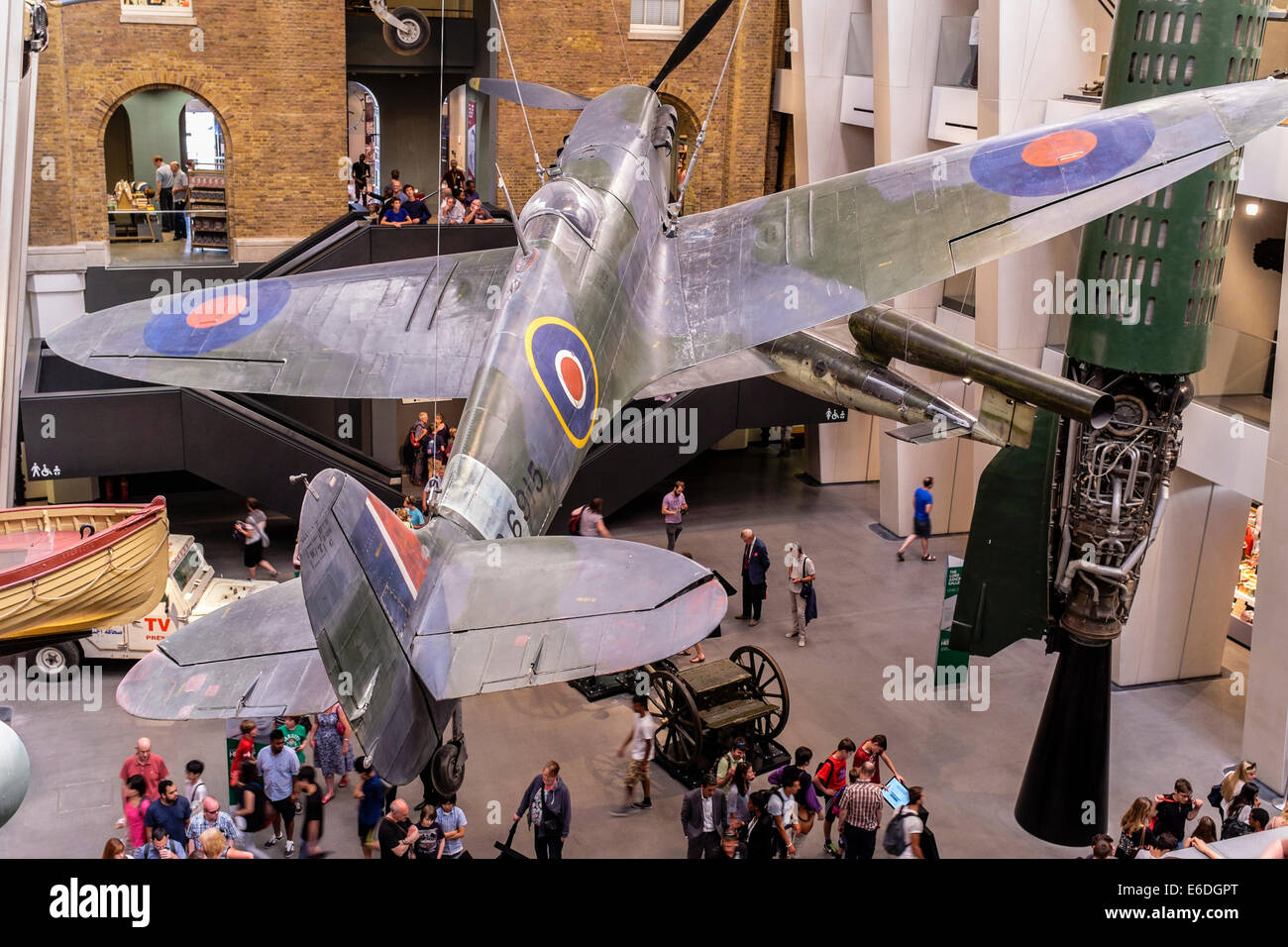 World War II Spitfire on display at Imperial War Museum, London UK - Stock Image