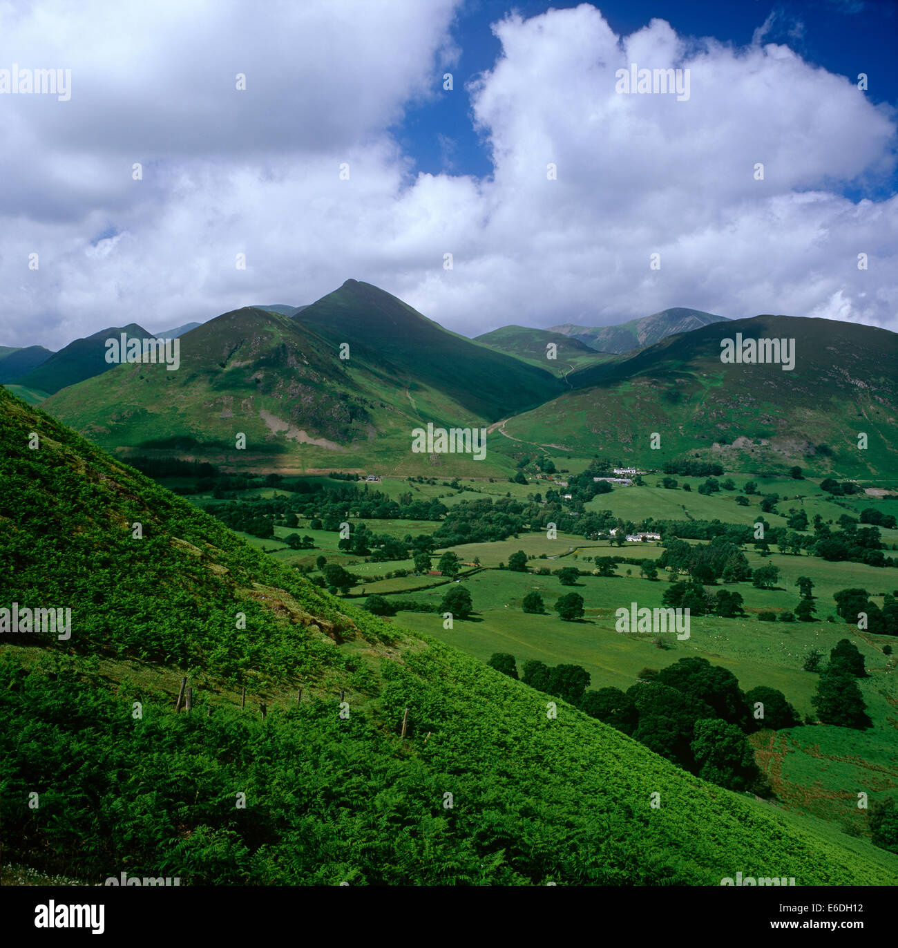 Causey Pike from Catbells Cumbria UK - Stock Image