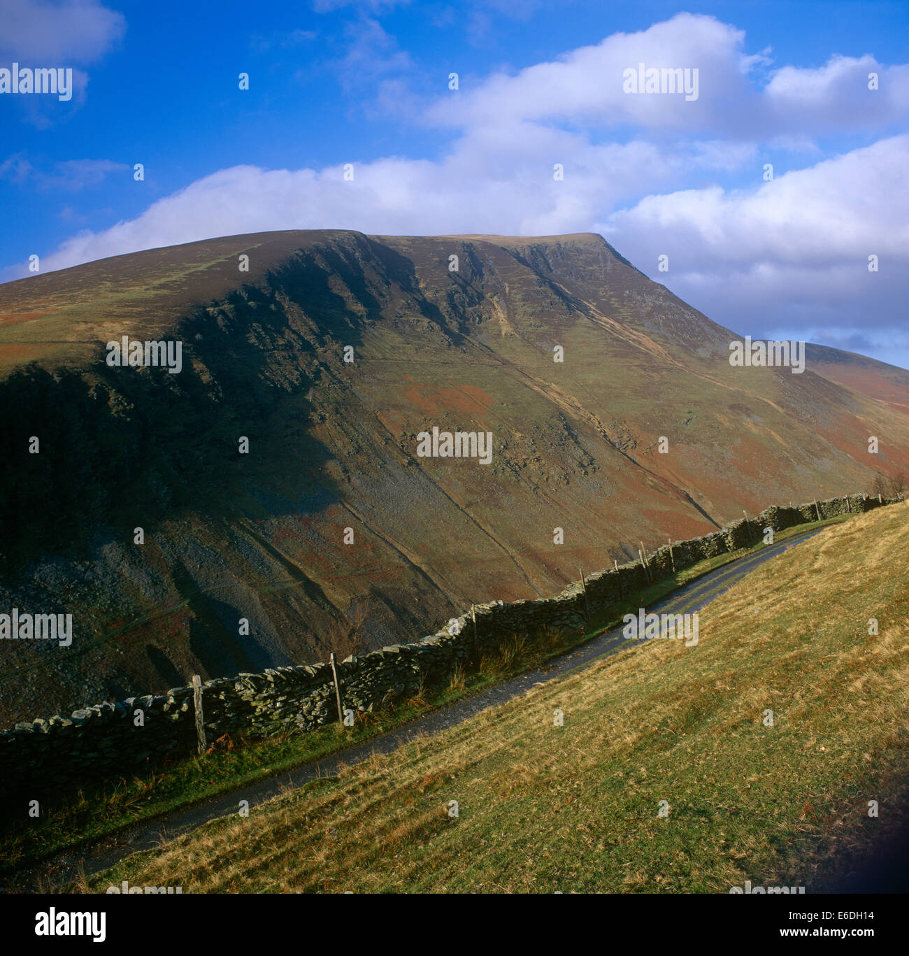 Lonscale Fell from Blease Cumbria UK - Stock Image