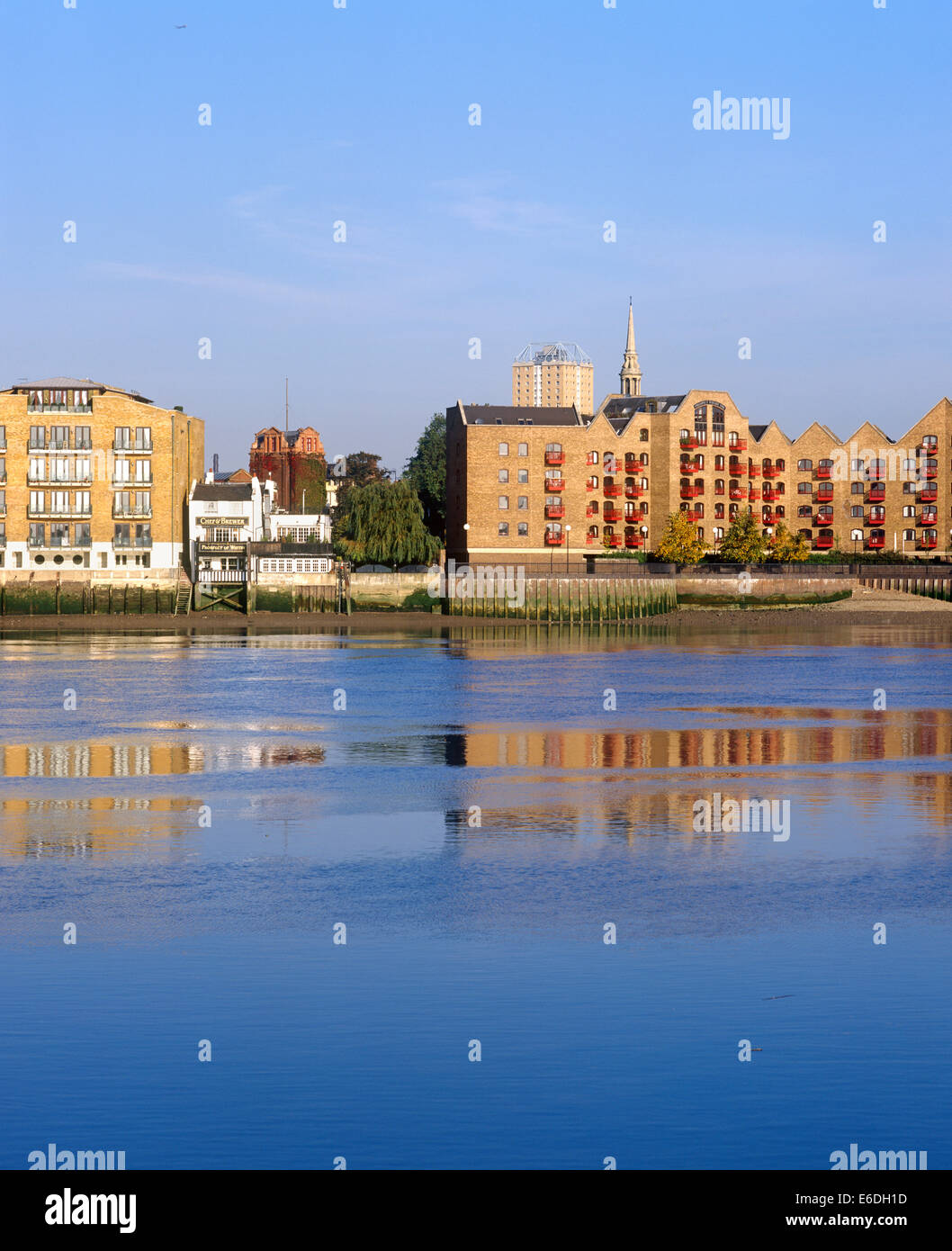 Whitby Pub Wapping High Street Rotherhythe London uk - Stock Image